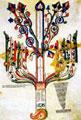 Cultura Euro Mediterranea - Cultura Calabrese - Gioacchino da Fiore - Tav. VI del Liber Figurarum - I Festival internazionale di Filosofia in Sila - Silvana Mansio - 7 giugno 2006 - Ermeneutica, Spirito, bellezza e trascendenza